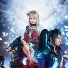 Promotional poster featuring Fina, Lasswell and <a href=