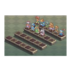 Party roster em <i>Final Fantasy Tactics A2: Grimoire of the Rift</i>.