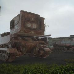 Derelict tanks.