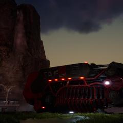 Красный десантный корабль Аранеи.