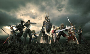 Dissidia Final Fantasy - CG artwork of Warriors of Cosmos