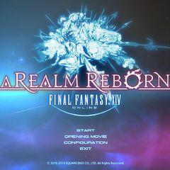 Pantalla de título de <i>A Realm Reborn</i>.