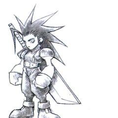 Концепт арт модели Зака для <i>Final Fantasy VII</i> от Тэцуи Номуры.