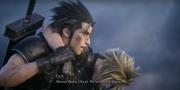 Zack brings Cloud to Midgar from FFVII Remake