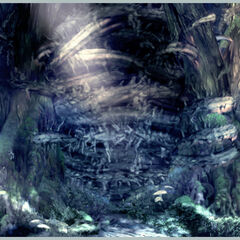 Artwork of the sealed Evil Forest.