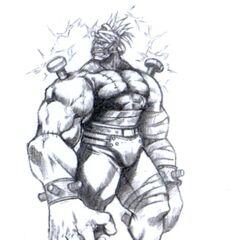 Arte de Death Gigas por  Tetsuya Nomura.