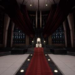 As roupas de Iedolas deixadas no trono.