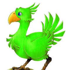 Зеленый чокобо.