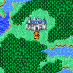 Western Keep on the World Map (GBA).