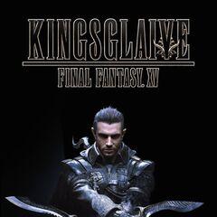 Постер с анонсом премьеры <i>Kingsglaive: Final Fantasy XV</i> в Соединенных Штатах.