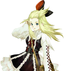 Edea in her DLC Military Cadet-in costume by Haruhiko Mikimoto.