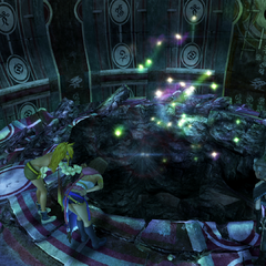 The hole in Djose Temple's Chamber of the Fayth in <i>Final Fantasy X-2</i>.
