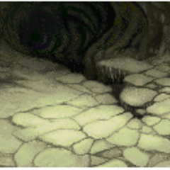 Cavern of Earth battle background in <i><a href=