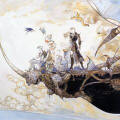 The Departure <small>(1992)<br />Final Fantasy V<br />Acrylic, colored ink<br />450x640mm, p.152</small>