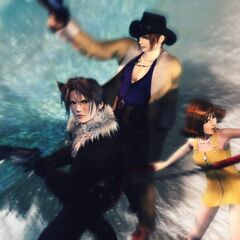 Squall, Irvine, and Selphie.