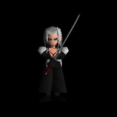 Sephiroth wielding the Masamune.