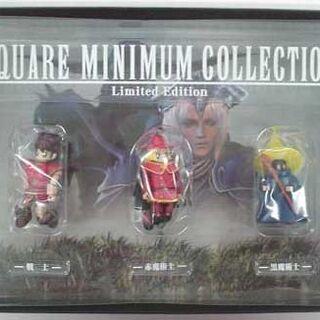 Coleção de Estatuetas de <i>Final Fantasy</i> incluída na versão <i>Premium Package</i>.