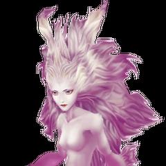Изображение Терры в альтернативной форме Эспера, основанное на спрайте из <i>Final Fantasy VI</i>.