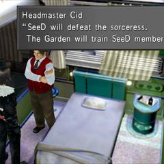 Cid explains the purpose of SeeD.