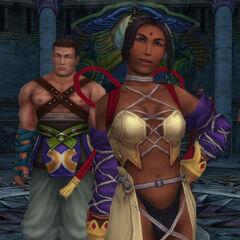Dona y Barthello en el Templo de Djose.