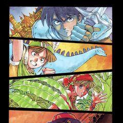 Personagens principais coloridos.