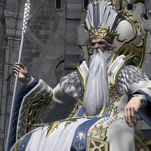Thordan VII em seu trono.