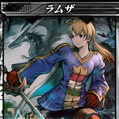 Ramza's card in <i>Lord of Vermilion Arena</i>.