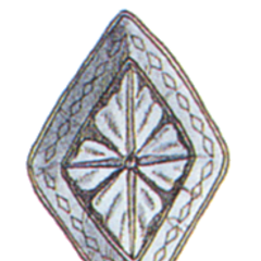 Official art of Mythril Shield from <i>Final Fantasy III</i>.