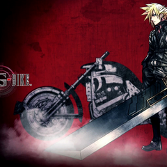 Artwork of Cloud and Hardy-Daytona from <i>G-Bike</i>.