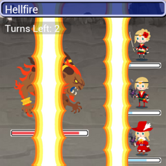 Ifrit using Hellfire in-game in <i><a href=
