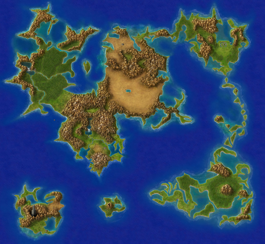 Final Fantasy IV Overworld Remastered | Final Fantasy Wiki