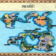 Official art of the world map.