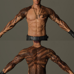 Gladiolus's tattoo.
