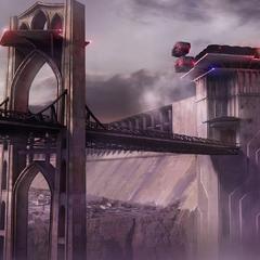 Concept art of the bridge.