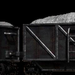 Поезд с углем на горе Корел.