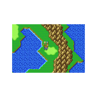 The village of Crescent on the Merged World (GBA).
