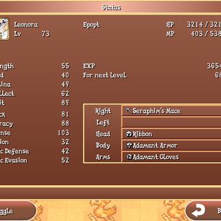 The Status menu in the iOS version.