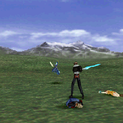 Squall's ready pose.