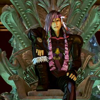 Caius sits on Etro's Throne in