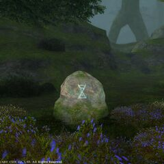 Stone with Althyk's symbol in legacy <i>Final Fantasy XIV</i>.