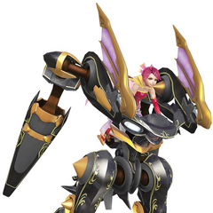 <i>Gunslinger Stratos 2</i> costume on robot.