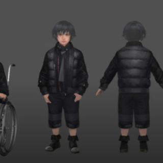 Concept art of young Noctis.