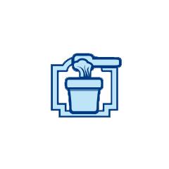 Noodle wagon icon.