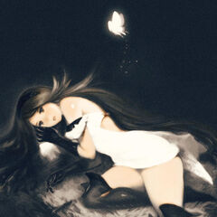 Artwork of Agnes with a fairy.