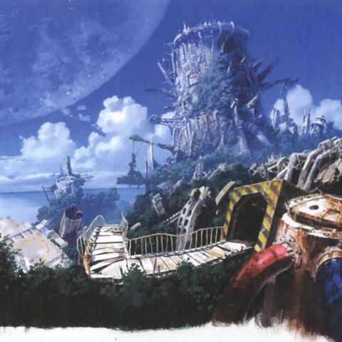 Early concept art of the island.