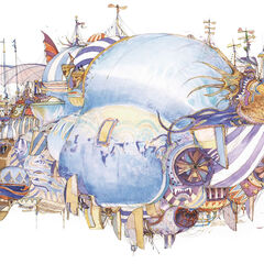 The Blimp <small>(1990)<br />Final Fantasy IV<br />Acrylic, colored ink<br />550x747mm, p.136-137</small>
