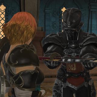 Fordola receives a gunblade as a reward from Zenos.