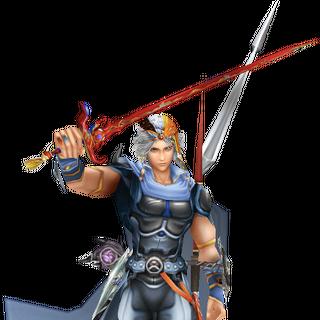 In-game render of Firion in <i>Dissidia Final Fantasy</i>.