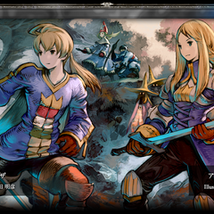 Ramza and Agrias.
