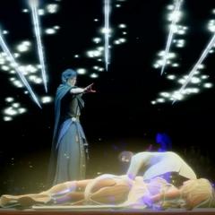 Видение Ардина в <i>Эпизоде Ардин</i>, где Сомнус сам убивает Эру.